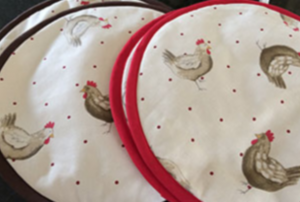 Hen and chicken design Aga Covers | Smithy&co