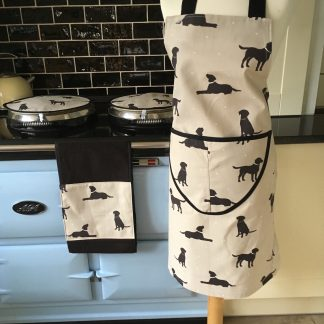 Labrador dog design apron, Aga covers & roller towel | Smithy & Co