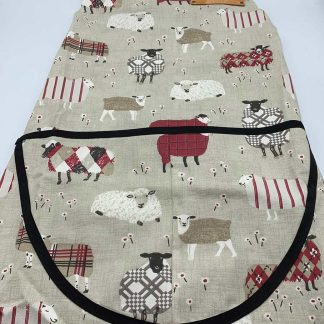 Baa Baa Red Sheep Apron flat