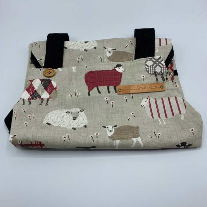Baa Baa Red Sheep Apron folded