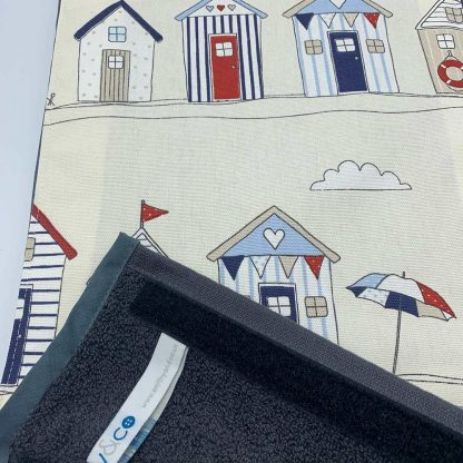 Beach Hut Roller Towel detail
