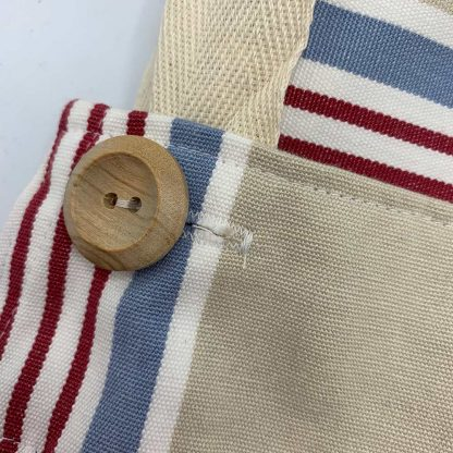 Beige Stripe Apron button