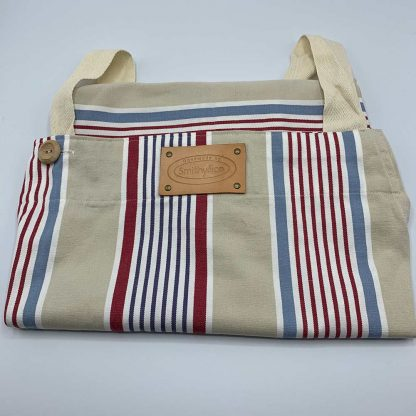 Beige Stripe Apron folded