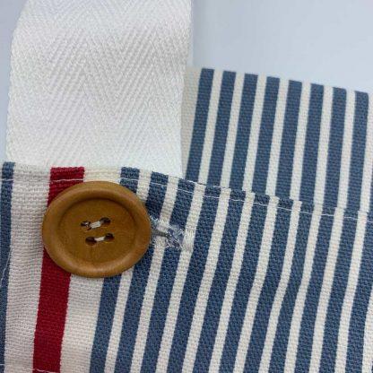 Blue Stripe Apron button