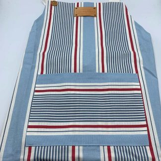 Blue Stripe Apron flat