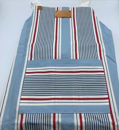 Blue Stripe Apron flat