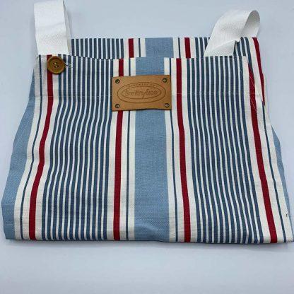 Blue Stripe Apron folded