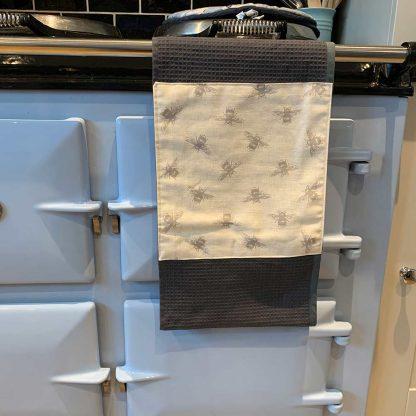 Bumblebee Roller Towel Beige in kitchen