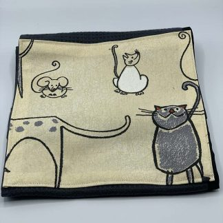 Cat and Mouse Beige Roller Towel