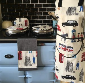 London theme Apron, Roller Towel and Aga Covers | Smithy&co
