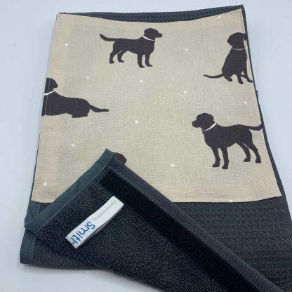 Labrador Roller Towel Beige detail