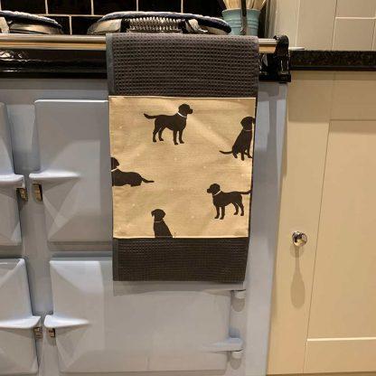 Labrador Roller Towel Beige in kitchen