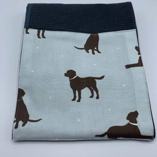 Labrador Roller Towel Duck Egg Blue