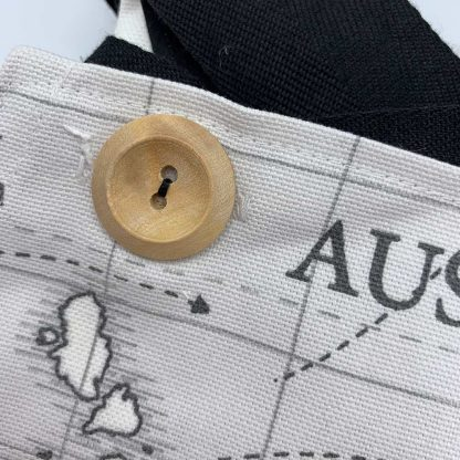 World Map Charcoal Apron button
