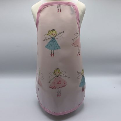 Children's Fairy Apron on mannequin - small with pink trim