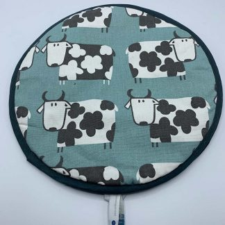 Cow Duck Egg Blue Aga Cover