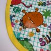 Monsters Children's Apron detail - yellow trim