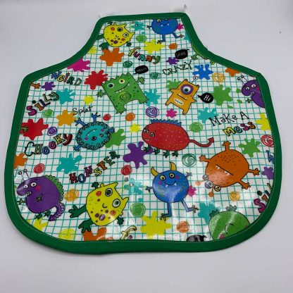Monsters Children's Apron - green trim