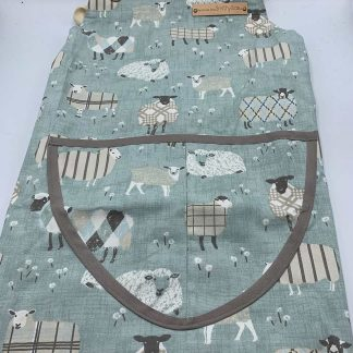 Baa Baa Blue Sheep Duck Egg Apron flat