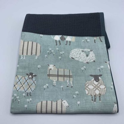 Baa Baa Blue Sheep Roller Towel Duck Egg