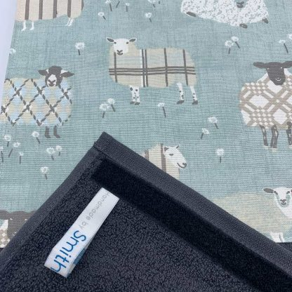 Baa Baa Blue Sheep Roller Towel Duck Egg detail