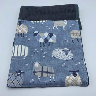 Baa Baa Blue Sheep Roller Towel Navy