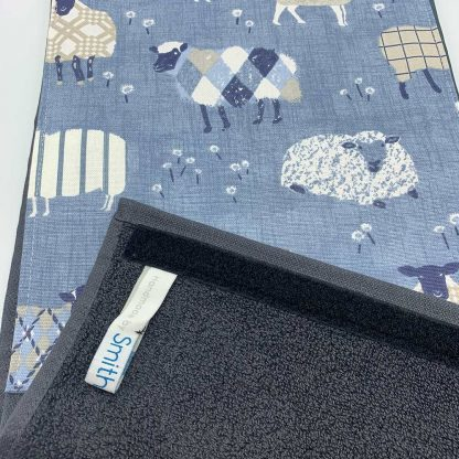 Baa Baa Blue Sheep Roller Towel Navy detail