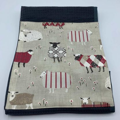 Baa Baa Sheep Roller Towel Red