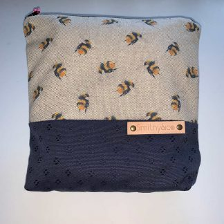 Bumblebee Navy Base Make Up Bag