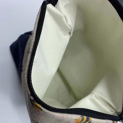 Bumblebee Navy Base Make Up Bag inside