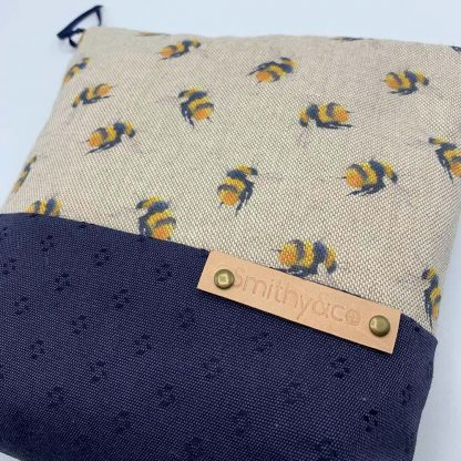 Bumblebee Navy Base Make Up Bag detail