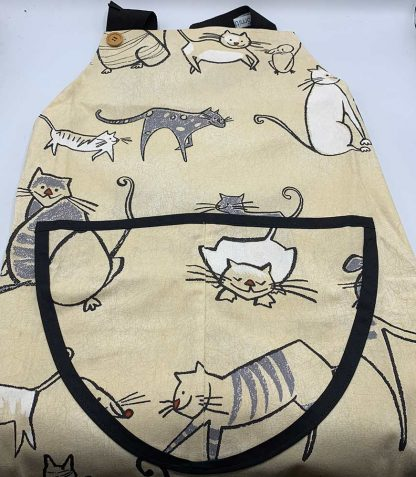 Cat and Mouse Apron flat