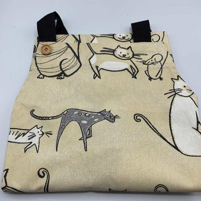 Cat and Mouse Apron folded