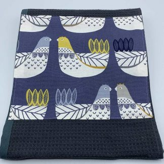 Cluck Cluck Blue Bird Roller Towel
