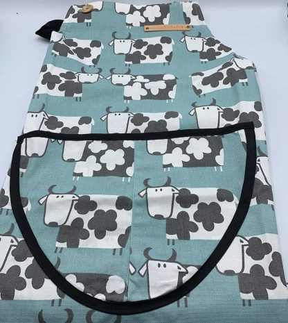 Cow Duck Egg Apron flat