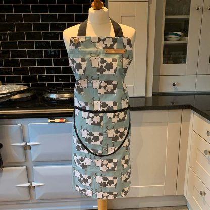 Cow Duck Egg Apron on mannequin