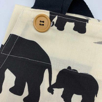 Elephant Black Apron button