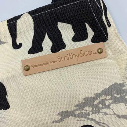 Elephant Black Apron detail
