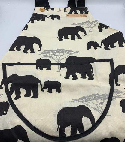 Elephant Black Apron flat
