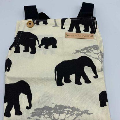 Elephant Black Apron folded