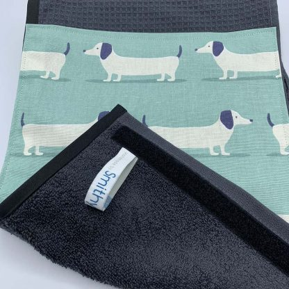 Hound Dog Duck Egg Roller Towel detail