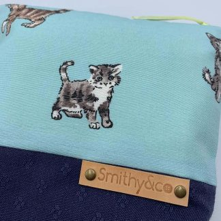 Kitten Kat Navy Base Make Up Bag detail