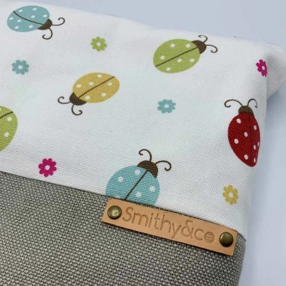 Ladybirds Beige Base Make Up Bag detail