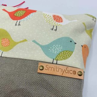 Little Birds Beige Base Make Up Bag