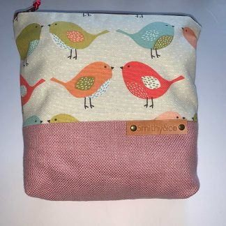 Little Birds Pink Base Make Up Bag