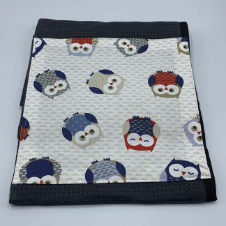Owls Red and Blue Roller Towel