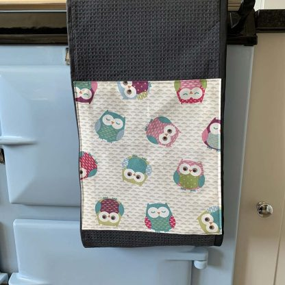 Owls Roller Towel on kitchen Aga range cooker