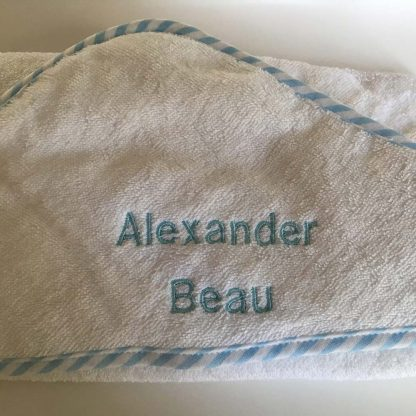 Personalised Baby Boy Name Towel Alexander Beau