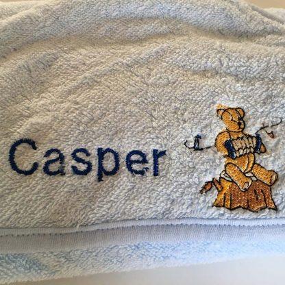 Personalised Baby Boy Name Towel Casper
