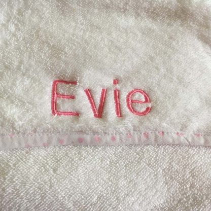 Personalised Girl Boy Name Towel Evie